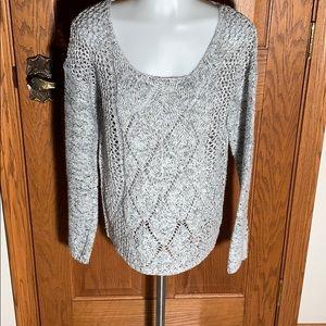 Light weight high/low hem sweater